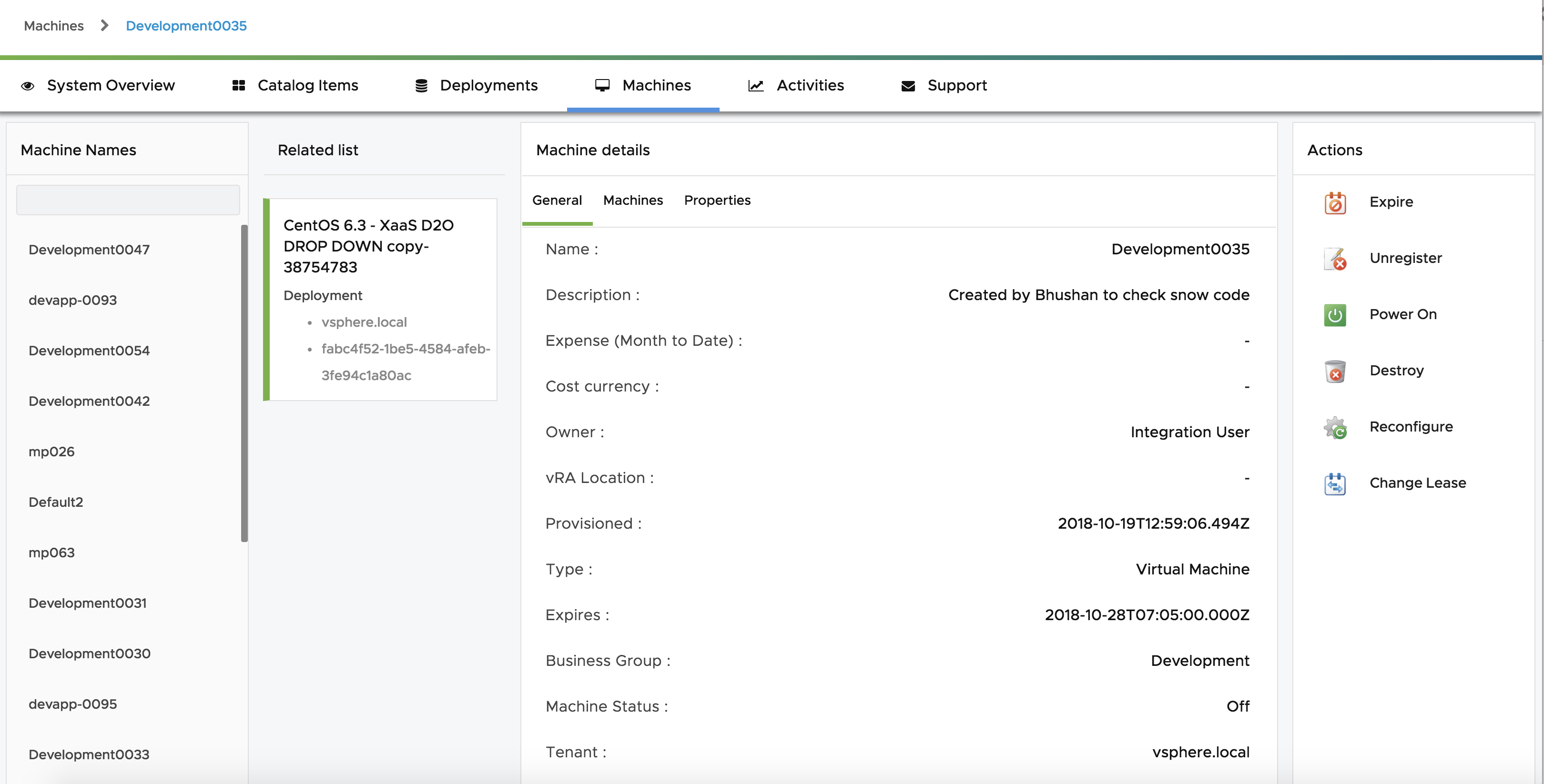 VMware vRealize Automation Plug-in for ITSM - VMware