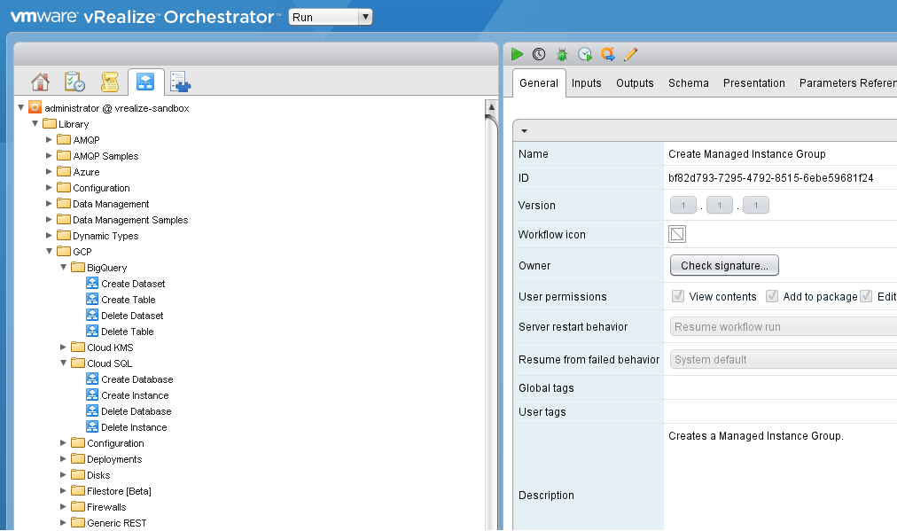 Google Cloud Plug-in for VMware vRealize Automation - VMware