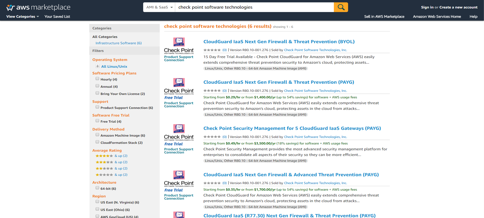 Check Point CloudGuard for VMware Cloud on AWS - VMware
