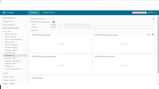 Cisco UCS Content Pack for Log Insight - VMware Solution