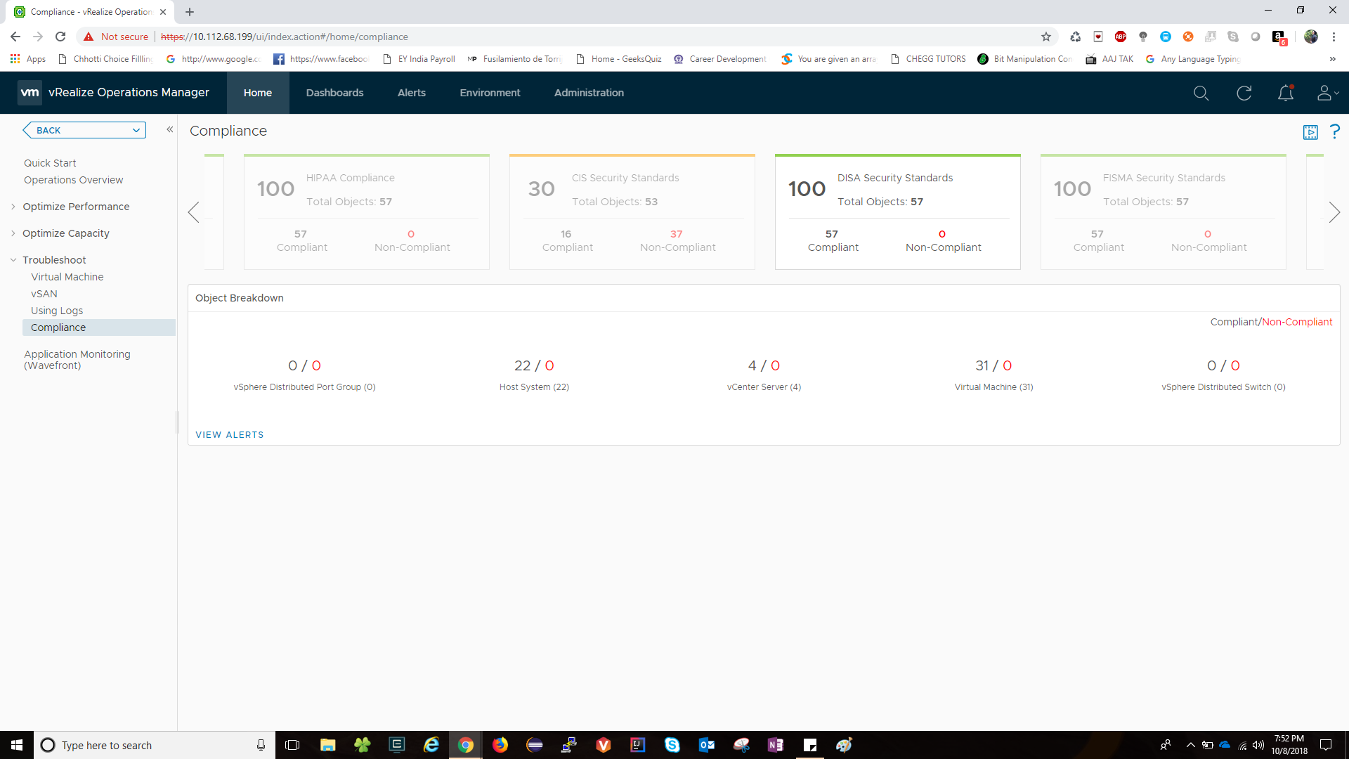vRealize Operations Compliance Pack for DISA - VMware
