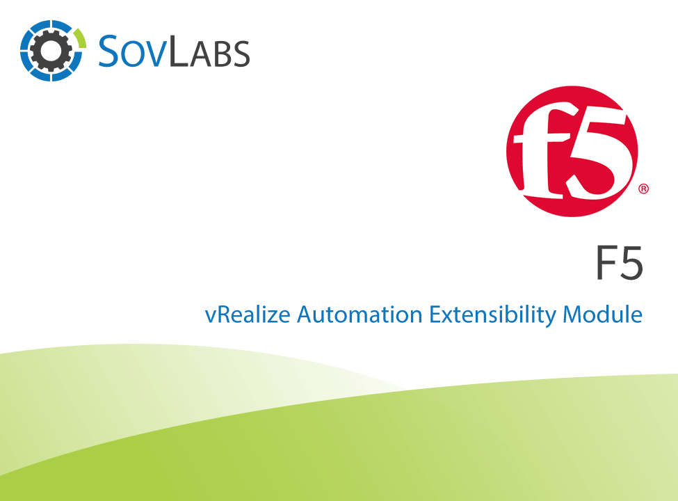 F5 from SovLabs - VMware Solution Exchange