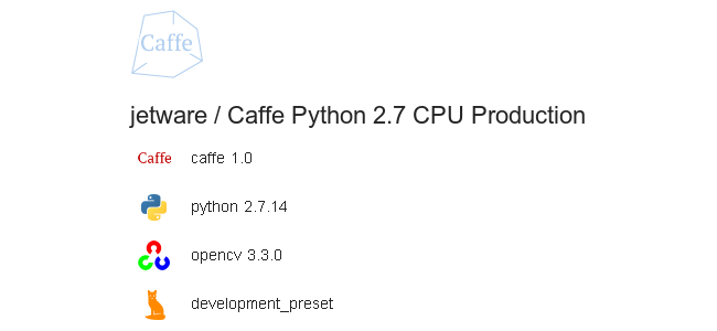Caffe Python 2 7 CPU Production - VMware Solution Exchange