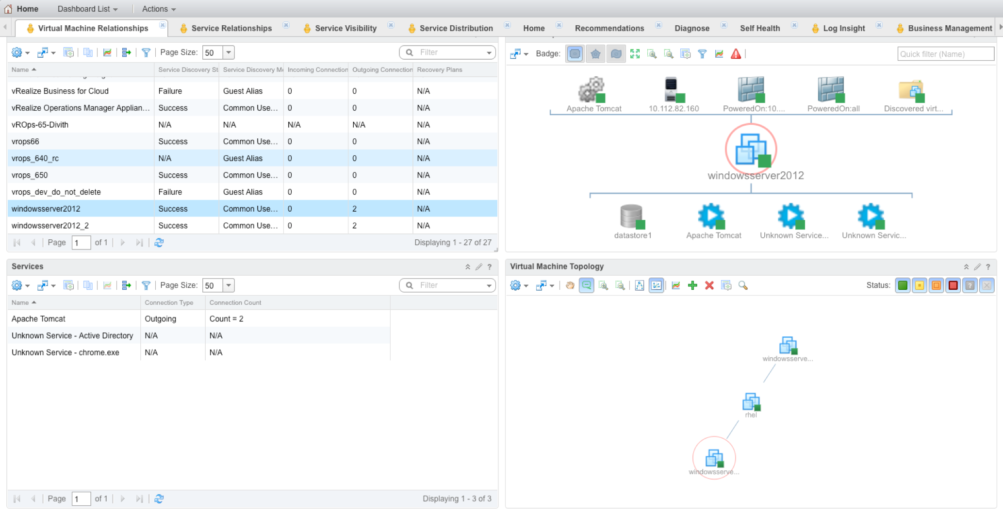 vRealize Operations Service Discovery Management Pack